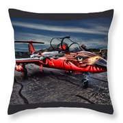 Red Star Viper Russian Side Throw Pillow