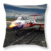 Red Star Viper United States Side Throw Pillow