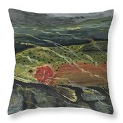Red Steelhead Throw Pillow