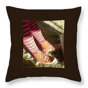 Red Stockings Throw Pillow