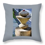 Red Stone Throw Pillow