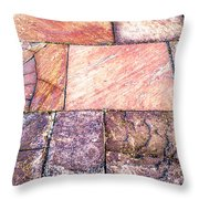 Red Pavement. Throw Pillow