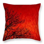 Red Storm Throw Pillow