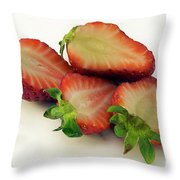 Red Strawberry Throw Pillow