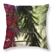 Red Strip  Throw Pillow