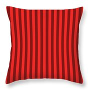 Red Striped Pattern Design Throw Pillow
