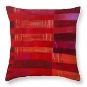 Red Stripes 2 Throw Pillow
