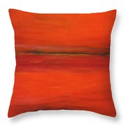 Red Study Throw Pillow