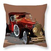 Red Stutz Throw Pillow