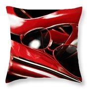 Red Stylish Accessories Throw Pillow