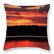 Red Summer Eve Throw Pillow