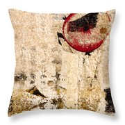 Red Sun Collage Throw Pillow