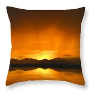 Red Sun Down Throw Pillow