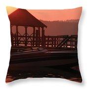 Red Sun Rising Throw Pillow
