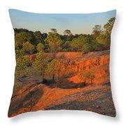 Red Sunset Cliffs Throw Pillow