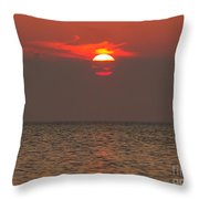 Red Surise Throw Pillow