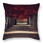 Red Surreal Path  Throw Pillow