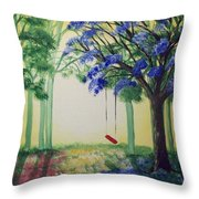 Red Swing Fantasy Throw Pillow