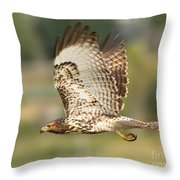 Red Tailed Hawk Hunting Throw Pillow