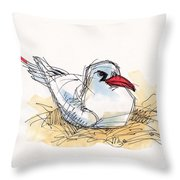 Red-tailed Tropicbird On Aitutaki Throw Pillow