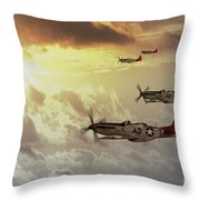 Red Tails Throw Pillow by J Biggadike