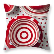 Red Teapot Throw Pillow by Garry Gay