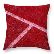 Red Tee Throw Pillow