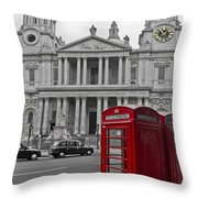 Red Telephone Boxes In London Throw Pillow