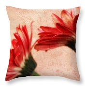 Red Texture 2 Throw Pillow