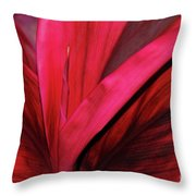 Red Ti Leaf Plant - Hawaii Throw Pillow