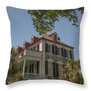 Red Tin Roof On Meeting Street Throw Pillow