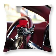 Red Top Hat Throw Pillow