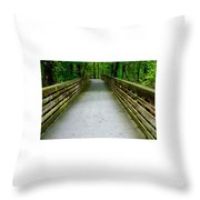 Red Top Mountain Bridge Throw Pillow