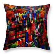 Red Town  Throw Pillow