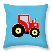 Red Toy Tractor Throw Pillow