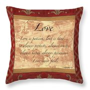 Red Traditional Love Throw Pillow