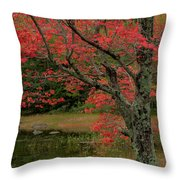Red Tree II Throw Pillow by Gary Lengyel