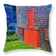 Red Trim Throw Pillow