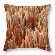 red Tsingy Madagascar 4 Throw Pillow