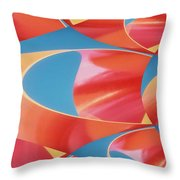 Red Tubes Throw Pillow