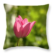 Red Tulip Head Throw Pillow