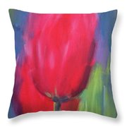 Red Tulips 1 Throw Pillow