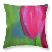 Red Tulips 2 Throw Pillow