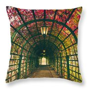 Red Tunnel Throw Pillow