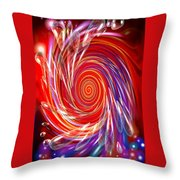 Red Twirl Throw Pillow