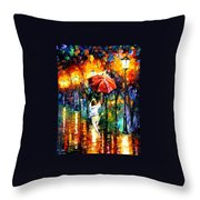 Red Umbrella Throw Pillow