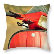 Red Vespa Throw Pillow