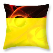Red Vesuvius Throw Pillow