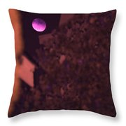 Red-violet Moon Throw Pillow