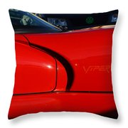 Red Viper Throw Pillow